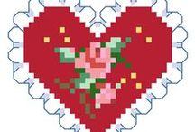 Cuori e amore / punto croce