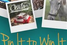 "Pin It to Win It! / Enter our Pin It to Win It contest to win a two-night getaway to Ocala/Marion County! To enter, follow us on Pinterest, create an ""Ocala/Marion Pin It to Win It"" board, and each repin from this board to your contest board earns you one entry!"