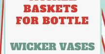 Wicker baskets for bottle Wicker vases