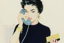 50's Illustrations / Colorfull, wonderfull