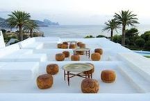 Moroccan Style / Moroccan Furniture and Outdoor Garden Features - wrought iron, mosaic tiles, tables, chairs, daybeds