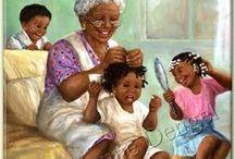 Black Art / african art, black biblical art, african illustration,