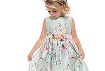 Printed silky sleeveless dress in a peach floral design / Cerimony Spring/Summer 2015 - Lesy Made in Italy with love #lesy #luxury #madeinitaly #fashion #florence #cutekidsfashion #couturedress #glamour #fashionlife #kidsclothes #kidscollection