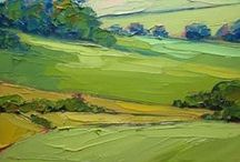 Landscape oil paintings / Oil on canvas paintings by Marwan Kishek