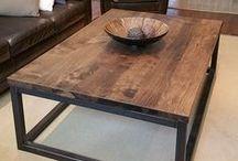 Reclaimed Barn Wood Coffee Tables / Custom Coffee Tables made from Reclaimed Barn Wood & Live Edge Wood. Custom Metal & Wood Bases.