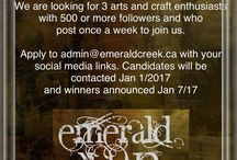 Contests and coupons / Links to contests and coupons for stuff. (Particularly my new company Emerald Creek Craft Supplies) but anything else I find too.