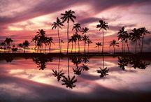 Beautiful sunsets around the globe...