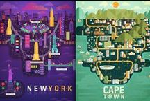 City & Country maps || ILLUSTRATION