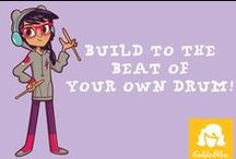 "Makin' Music with Val Voltz / ""Build to the beat of your own drum."" / by GoldieBlox"