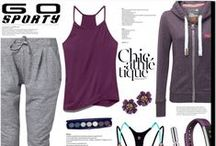 """Fashion ~ Workout/Casual ~ Athleisure / Athleisure is a trend in fashion in which clothing designed for workouts and other athletic activities is worn in other settings, such as during work, casual or social occasions. Athleisure outfits are yoga pants, tights and leggings that """"look like athletic wear"""" and characterized as """"fashionable, dressed up sweats and exercise clothing""""."""