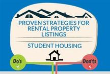 Student Housing Infographics / Infographics about student housing, millennial renters and more!  #studenthousing  / by Places4Students.com