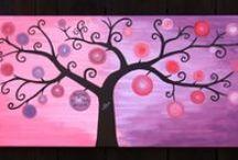 """Wedding tree/ Svatební strom / Maluji svatební stromy - barevné, do jejichž """"jablíček"""" se píší vzkazy novomanželům, nebo černobílé tuší, na které se obtiskávají prsty svatebních hostů. Novomanželům tak zbyde krásná památka na jejich """"velký den""""."""