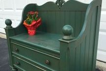 Chairs & Benches      from OLD BEDS & cribs