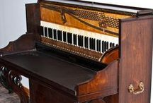 Piano & Musical Projects / Inspiration for transforming an old piano into a desk.