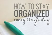 Get Organized / Putting everything in its place one nap at a time. Tips and tricks to keep you organized and sane #organizedmom #organization