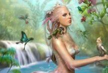 Seres mágicos / Fadas, Elfas, Anjos e Sereias.