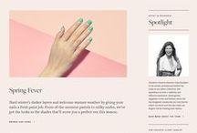 Website Design / Minimalistic and sophisticated website design.