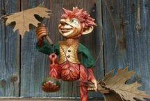 Moje loutky :) (My puppets from wood) / Celořezané dřevěné loutky Hanky Čížkové