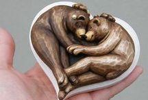 My bears ♥ from wood - Mám ráda medvědí motiv