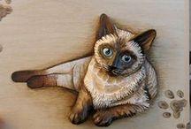 Zvířecí motivy ze dřeva, Animals from wood, hand made - Hanka Čížková