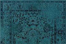 Colorierte Vintage Teppiche