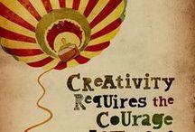 creativiteit / Er wordt gezegd dat creativiteit dé kern is van hoog gevoelige mensen. Creativiteit vraag wel om moed, vooral durven fouten maken. Boeiend!