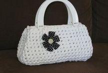 Virkatut laukut, pussukat ja kukkarot - Crocheted bags, pouches and purses