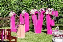 Letras XXL / Letras gigantes para bodas y eventos.