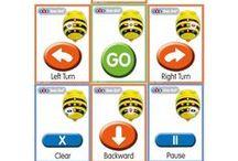 Tapetes BEE BOT / Colección de tapetes encontrados en Internet para Robótica Infantil con Bee-Bot. Queremos dar ideas al profesorado de Educación Infantil para crear su propio tapete para Bee-Bot.  #yosoyrobot