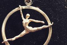 Sport ginnaste / Sculture da indossare!! Argento lavorato a cera persa design esclusivo