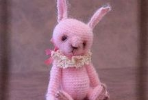 bunnies / crochet / by Judy Wright
