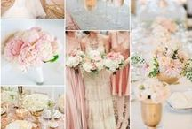 Ahhhh ... Blush and gold it never gets old. / Blush, gold, cream and pink, the perfect combo really.