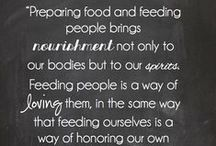 Food as Ministry / Food, Marvelous Food. Delicious recipes, large and small, food as comfort and nourishment when they need it most.