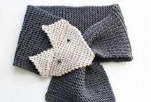 crochet/knit   hats, scarves, gloves