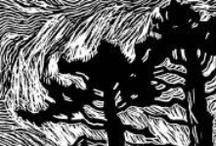 Art: Etchings/Linocuts/Pen/Woodcuts/Etc.  / by Jean Elizabeth Ward