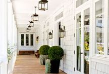 inspire: exteriors / Patios, porches, paint colors, windows, and more... All the beautiful aspects on the outside of a home.