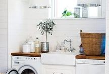 inspire: laundry / few rooms in the home have to work harder than the laundry room… these are both gorgeous and functional… / by Maison de Pax
