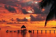 Sunsets Around The Globe / Sunsets while vacationing in the best Luxury spots
