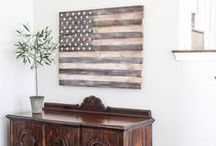 celebrate: patriotism / patriotic decor - perfect for Memorial Day, 4th of July, and more…