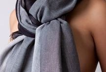 Grey and black women's shawls from The Thread Orchard / Grey and black women's shawls in cashmere, merino and silk.