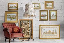 Панно и картины / Панно, нарисованный золотыми и серебряными нитями на благородных дорогих материалах. Красота и обаяние ручной работы. #handmade #вышивка