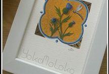YokoMoloko Enluminures /  Oscillant entre modernité et ancien, voici mon travail comme peintre enlumineur.  Come visit my website !  http://www.yokomoloko.com/