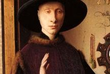 Jan v E. / Jan van Eyck fue un pintor flamenco que trabajó en Brujas. Está considerado uno de los mejores pintores del Norte de Europa del siglo XV y el más célebre de los Primitivos Flamencos.  Jan van Eyck or Johannes de Eyck (before c. 1395 - before July 9, 1441) was an Early Netherlandish painter active in Bruges and considered one of the best Northern European painters of the 15th century.