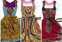 EarthenWear / My style: Earthy, Boho, Afro-boho, ethnic, vintage shirt-dresses, fit-n-flare, COLOR, ankle-length skirts, natural fibers, flat wide comfortable sandals & boots, wedge heels