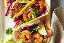 Spanish Entrées / An assortment of Mexican-inspired seafood recipes