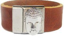 B&L steel & leather / Armbanden van B&L / bracelets of B&L