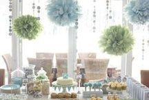 Tischdeko - BABYPARTY / Wunderschöne #Tischdeko - Sammlung für #Babypartys und #Baby-Shower.