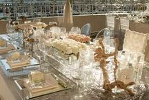 Crystals, lucite and all that bling! / All ideas of bling or crystals to accent your dream wedding!