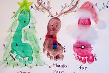 Kids Footprint Crafts / Lots of different projects to try with your little ones footprints