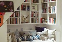 Book Nook / Book nook. Images and ideas for geeky and cozy book reading spaces.